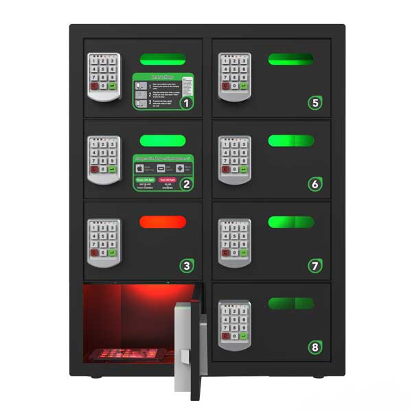 OREAD 8 BAY LOCKER $variant_title Pagertec