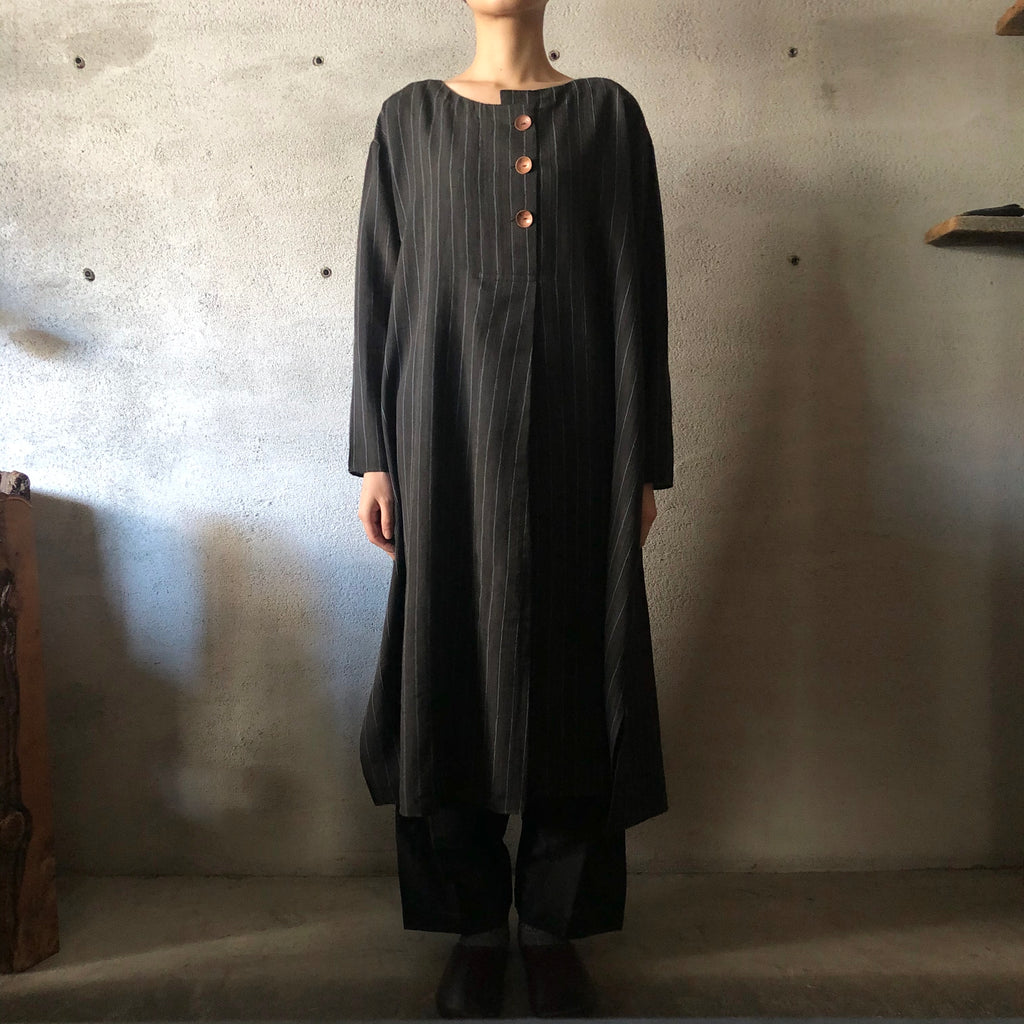 MAKU|PANGOLIN 50% cotton & 50% wool handwoven dress|G1957