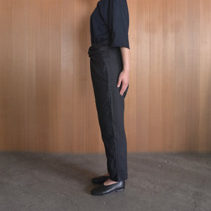 COSMIC WONDER|11CW11083|Beautiful light linen wrapped pants|Black