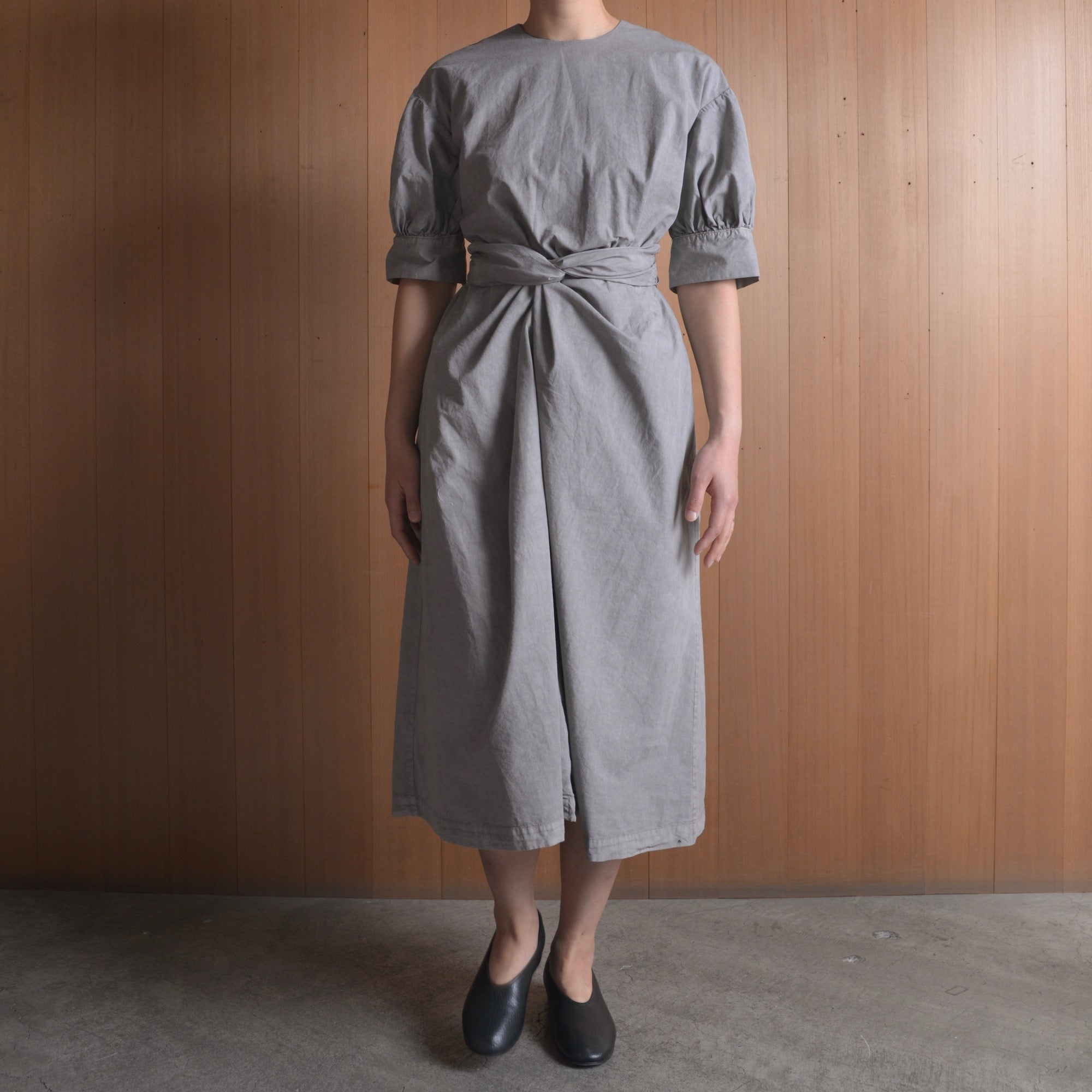 COSMIC WONDER|11CW17219|Beautiful organic cotton wrapped dress|Light sumikuro