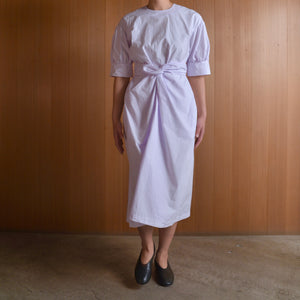 COSMIC WONDER|11CW17219|Beautiful organic cotton wrapped dress|Light violet