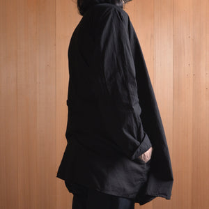 COSMIC WONDER|11CW01140|Beautiful organic cotton Haori shirt jacket|Black