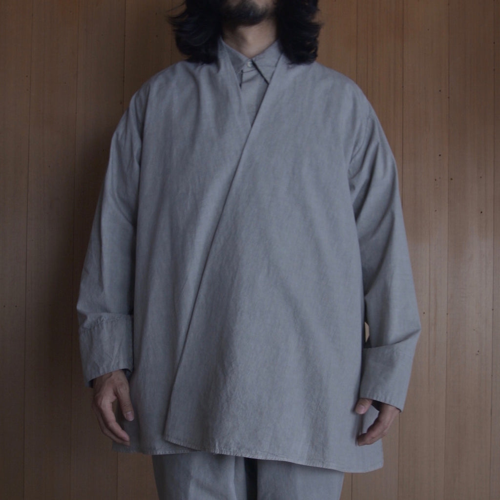 COSMIC WONDER|11CW01140|Beautiful organic cotton Haori shirt jacket|Light sumikuro