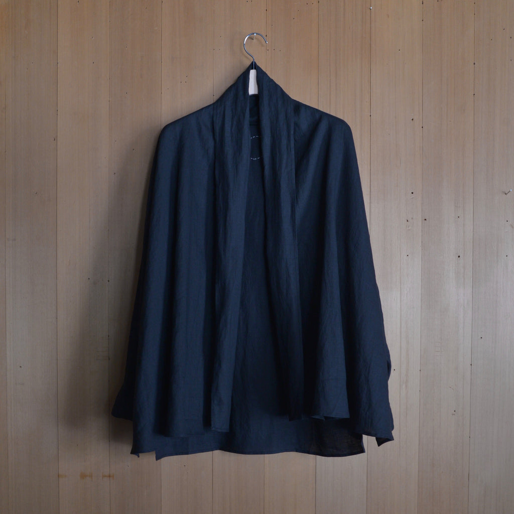 COSMIC WONDER|11CW01136|Beautiful light linen Haori shirt jacket|Black