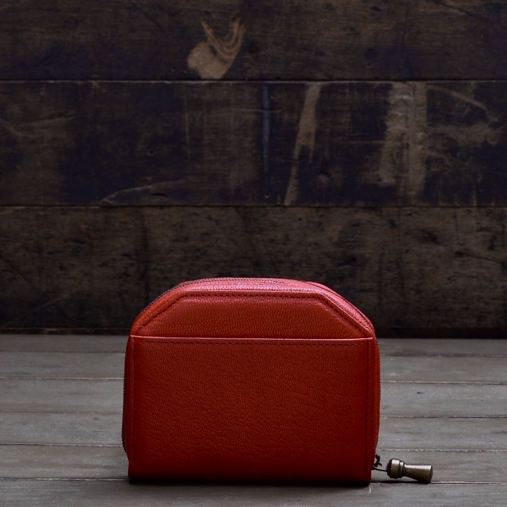 POSTALCO | No.60017 | Kettle Zipper Wallet | Small | Red
