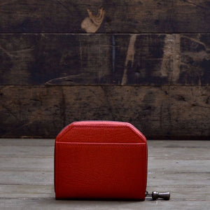 POSTALCO | No.60022 | Kettle Zipper Wallet | Thin | Red