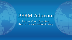 PERM Recruitment San Jose California [Professional]