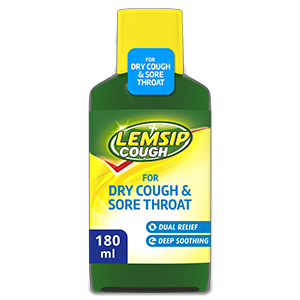 Lemsip Cough For Dry Cough & Sore Throat Oral Solution 180ml