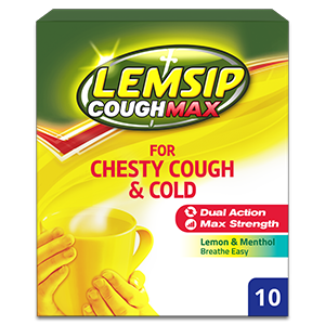 Lemsip Cough Max Chesty Cough & Cold Lemon Powder for Oral Solution 10s