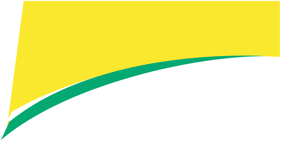 Rounded green and yellow