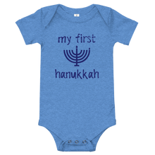 Load image into Gallery viewer, My First Hanukkah Short Sleeve Bodysuit