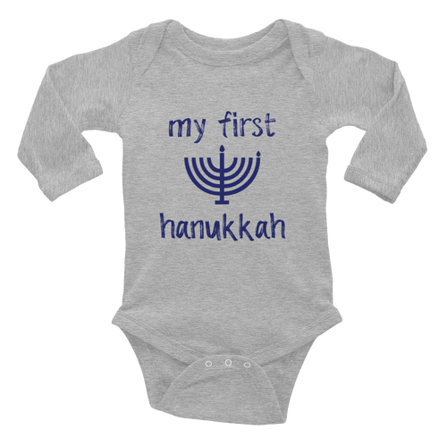 My First Hanukkah Long Sleeve Bodysuit