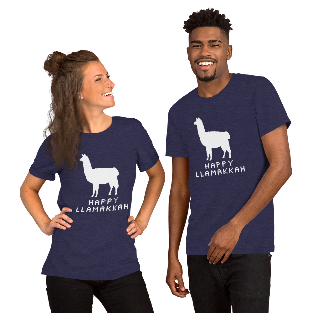 Happy Llamakkah Adult T-Shirt
