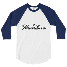 Load image into Gallery viewer, Maccabees Men's 3/4 sleeve raglan shirt