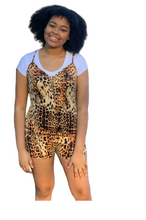 Load image into Gallery viewer, Sassy Leopard Romper (Juniors)