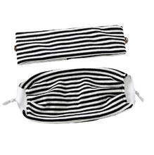 Load image into Gallery viewer, 2pc Striped Face Mask & Headband Set