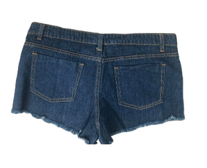 Floral Tapestry Denim Shorts (Juniors)