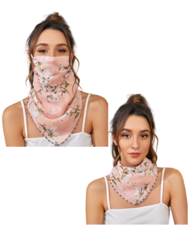 Blush Vine Face Mask / Scarf Combo