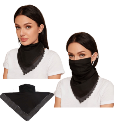 Black Face Mask / Scarf Combo