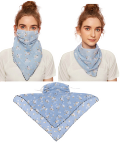Powder Blue Face Mask / Scarf Combo