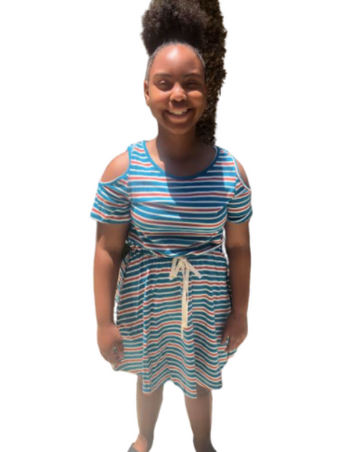 Striped Cotton Dress (Juniors)