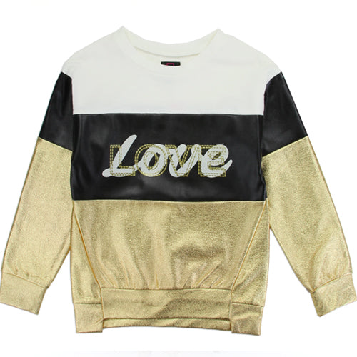Gold Love Sweatshirt