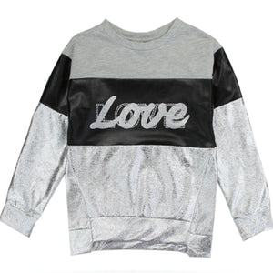Silver Love Sweatshirt