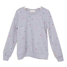 Load image into Gallery viewer, Girls Pearl Detail Long Sleeve Grey Sweater