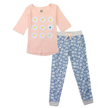 Load image into Gallery viewer, Peach Floral Jogger Set