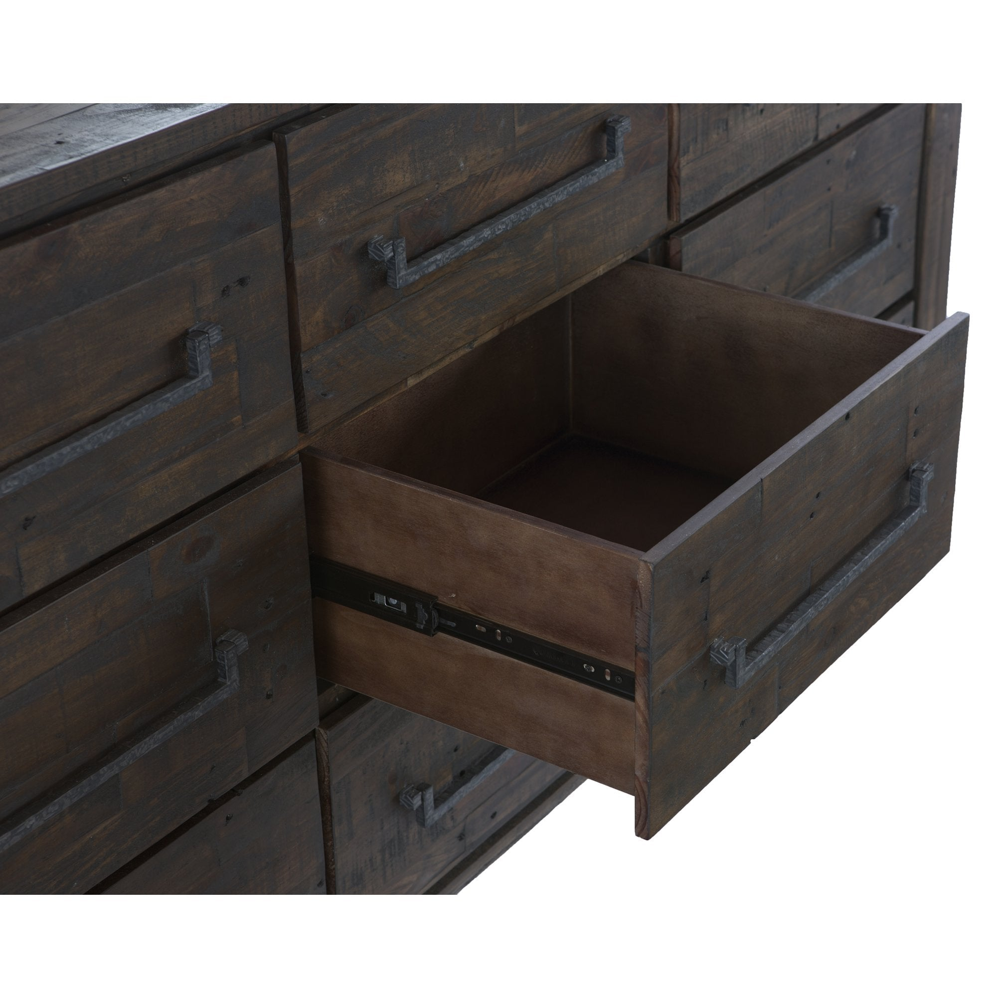 Rustic Contemporary Dresser London Weathered Brown Wood
