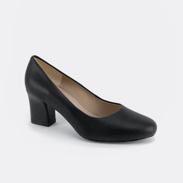 Classic 70 Leather Heels (Black) - Nelissa Hilman