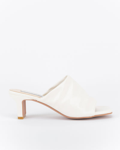 Lina Low Heel Mules (Off White)