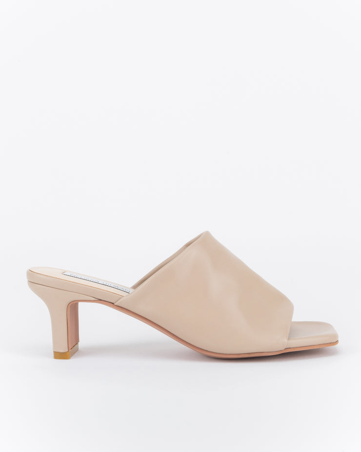 Lina Low Heel Mules (Sand)