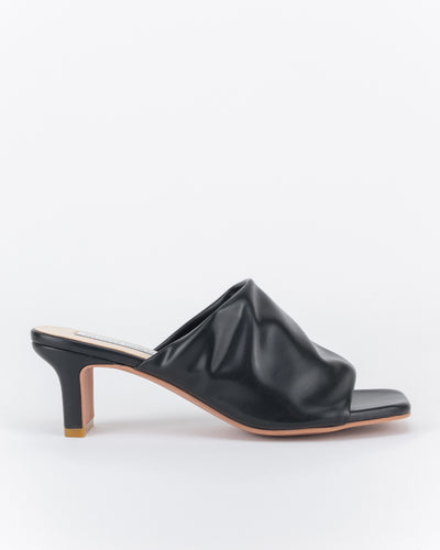 Lina Low Heel Mules (Nero)