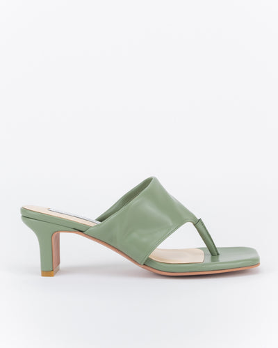 Nina Thong-Strap Heel Sandals (Green)