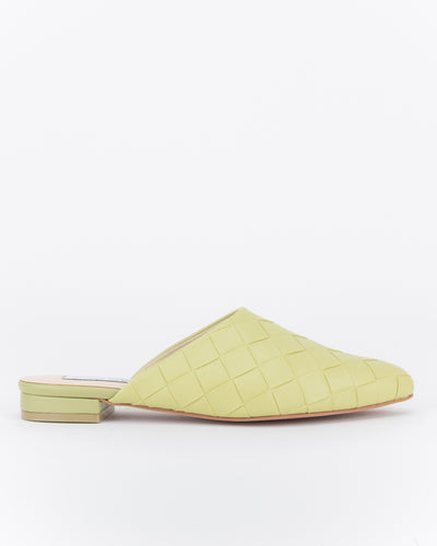 Nawal Point Toe Flats (Green)