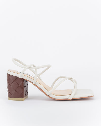Safiyya Strappy Knotted Heels (Off White)