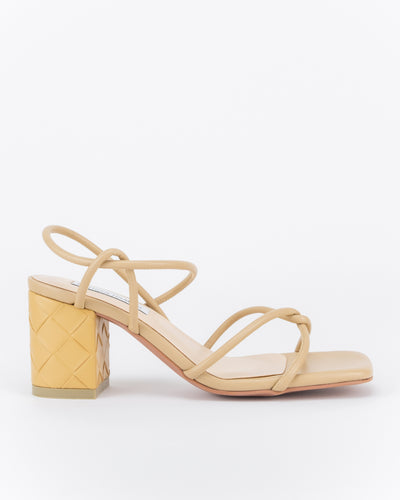 Safiyya Strappy Knotted Heels (Nude Brown)