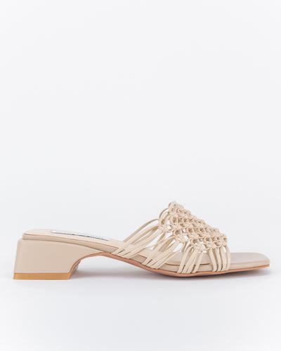 Khadija Macramé Mules (Light Brown)