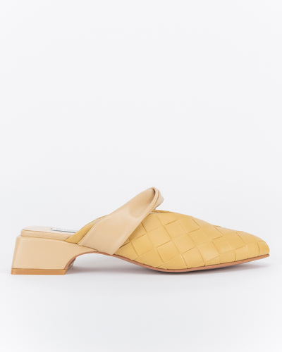 Syawal Point Toe Mules (Light Brown)