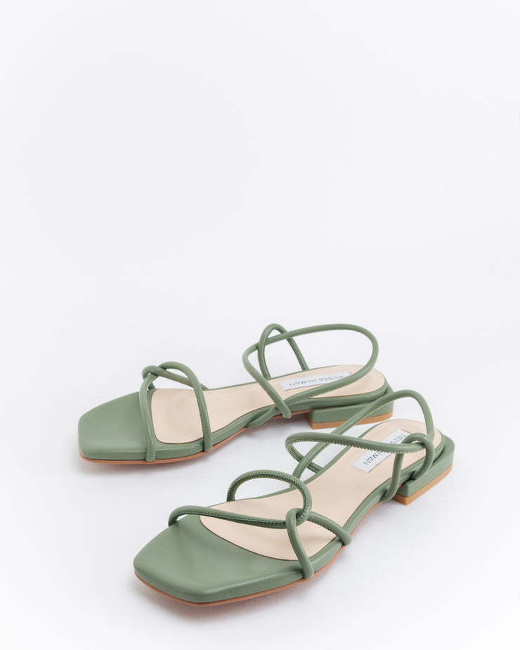 Sofea Strappy Knotted Sandals (Green)