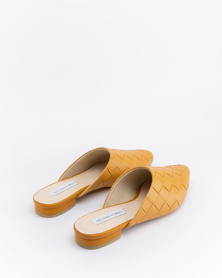 Nawal Point Toe Flats (Brown)