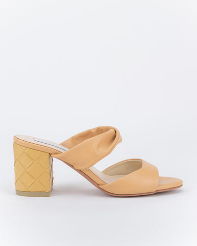 Myra Twist Strap Heels (Light Brown)