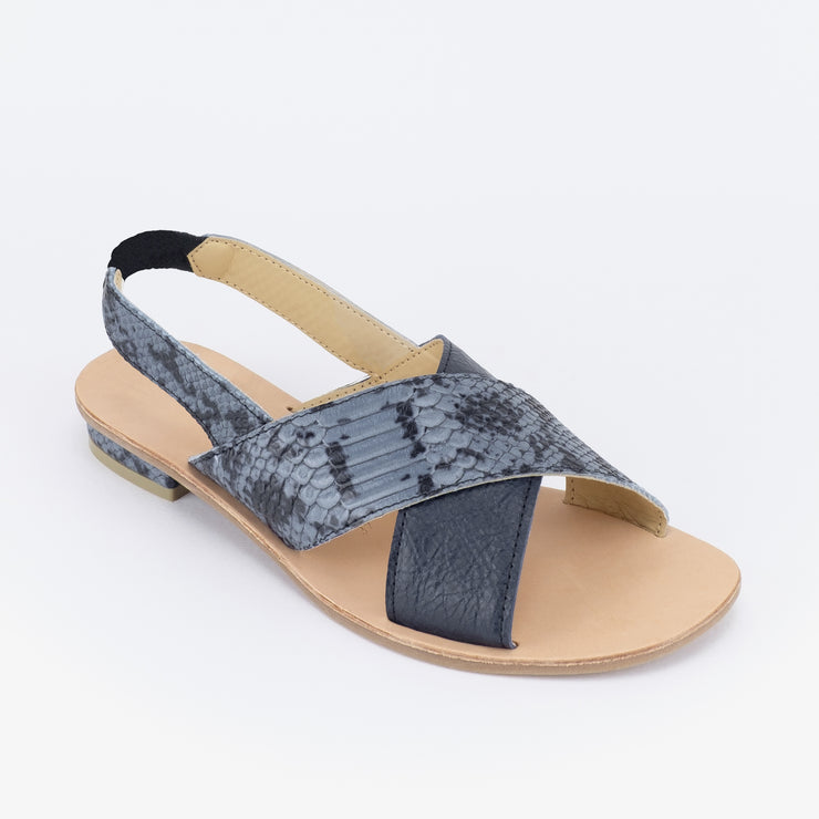 Aria Slingback Sandals (Blue)