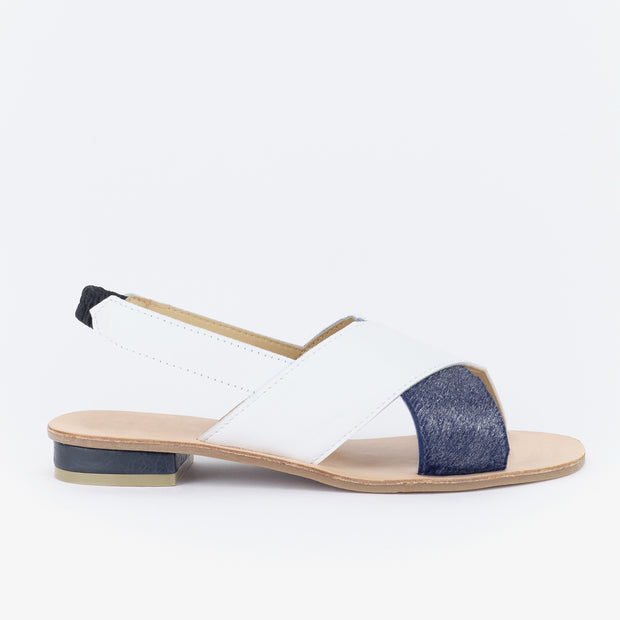 Aria Slingback Sandals (White)