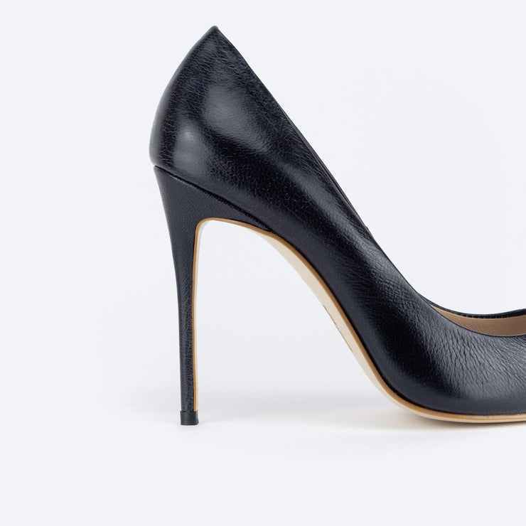 Classic 100 Pointy Pumps (Midnight Blue)