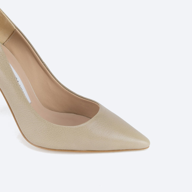 Classic 100 Pointy Pumps (Light Taupe)