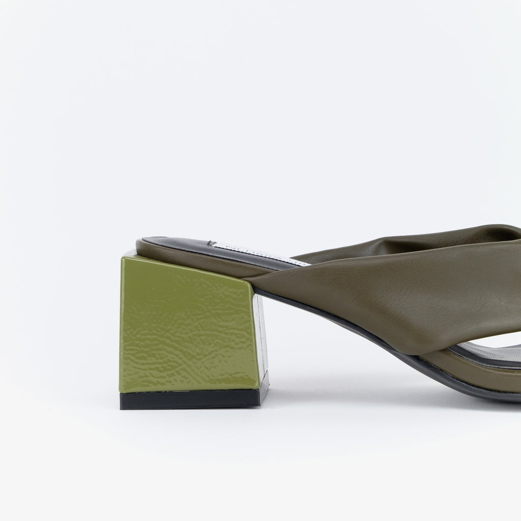 Dayang Heel Sandals (Military Green)