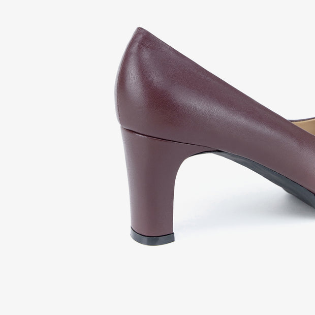Donna Leather Heels (Maroon) - Nelissa Hilman