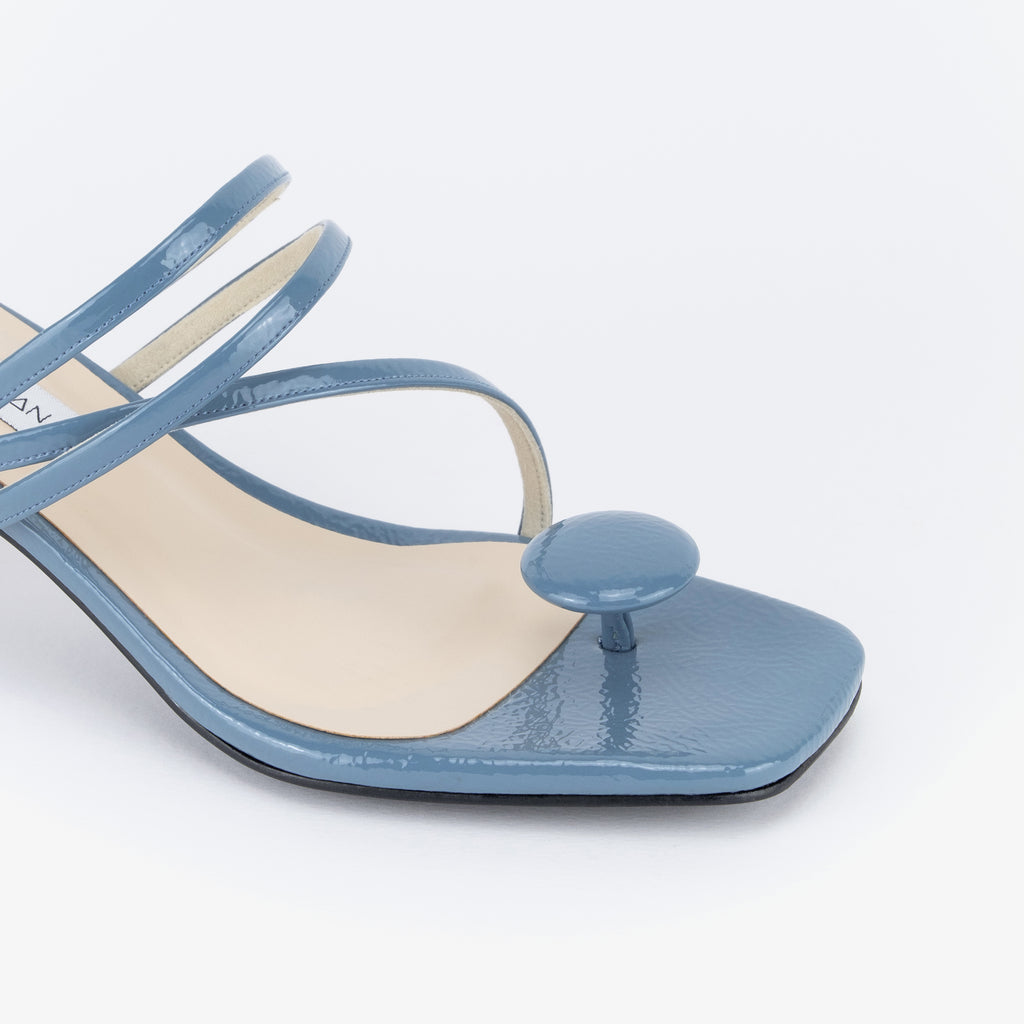 Sarima Oval Point Strappy Heel Sandals (Blue Ashes)